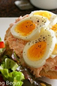 Salmon and Egg Sandwich | by Let the Baking Begin!_