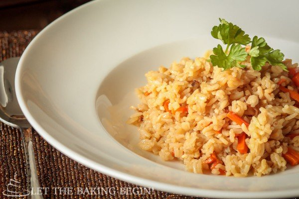 Simple Fried Rice - super easy recipe for a side dish that goes well with meats and fish for a complete dinner meal.