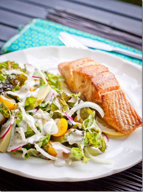 Buttered Salmon & Summer Salad - Let the Baking Begin!
