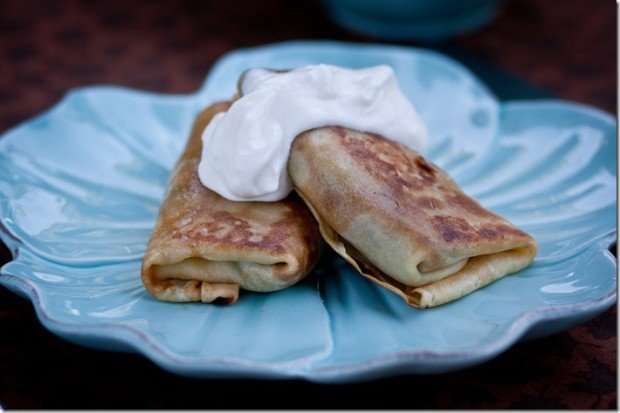 Meat Stuffed Crepes Crisped up in Butter | By LetTheBakingBeginBlog.com | @Letthebakingbgn