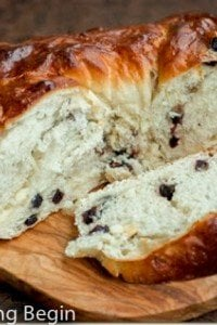 "White Chocolate & Blueberry Bread Wreath - Inspired by ""Red White & Blue Bread"" from Great Harvest, this sweet bread will be the perfect addition to your morning coffee!"
