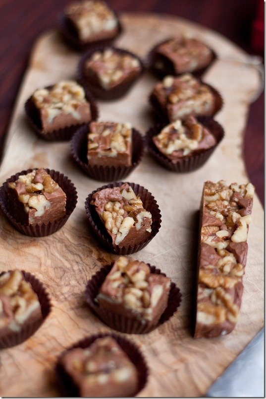 Chocolate Walnut Fudge (Food Network Magazine) by {LettheBakingBeginBlog.com}
