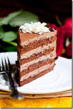 Cake Prague - Chocolate cake filled with Chocolate Custard Buttercream.