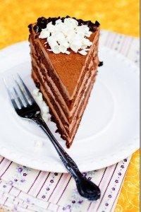 Mikado Layer Cake With Chocolate Custard Buttercream