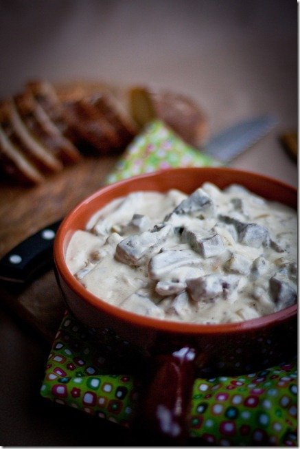 Beef Tongue in White Sauce is a dish that is very similar to Beef Stroganoff. The beef tongue chunks are even more tender than beef and the sauce is very creamy. This goes well with any grain, pasta or even mashed potatoes. To speed up the process of cooking the beef tongue, cook it in an Instant Pot for about 70 minutes.