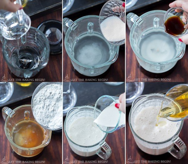 How to make wafers by adding all ingredients and mix together.