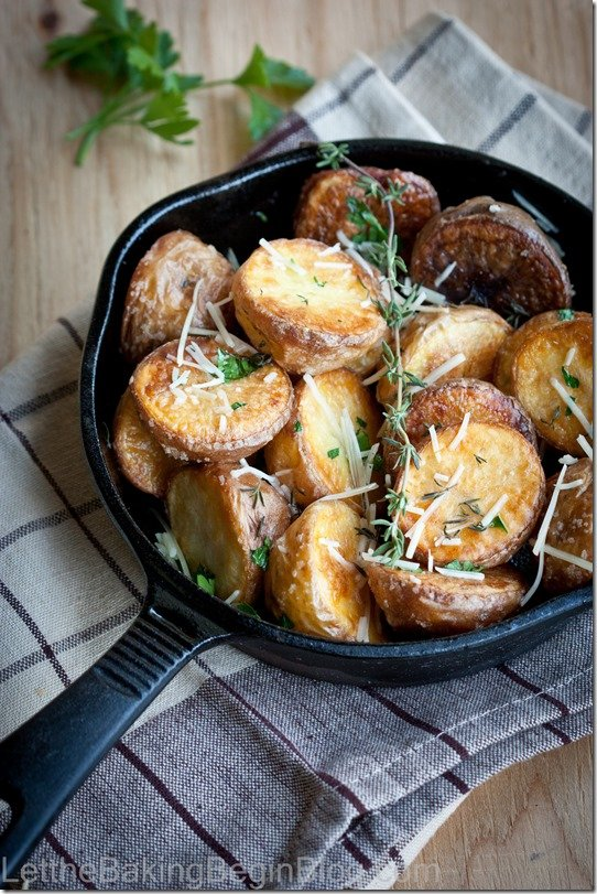 Perfectly Crispy Potatoes are crispy on the outside and nice and creamy on the inside! Learn all the tricks to getting the most crisp in your roasted potatoes!