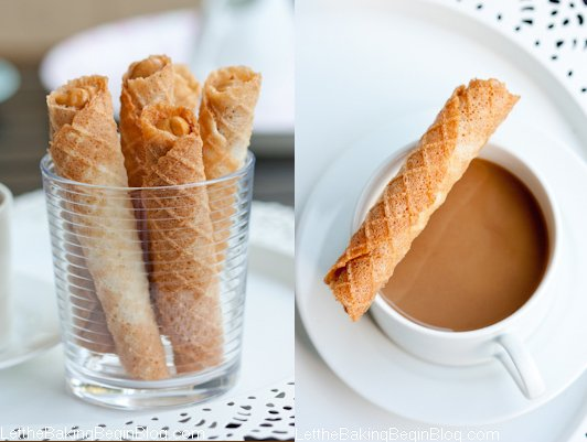Light & Crispy Waffles filled w/ Dulce de Leche {Вафельные Трубочки}