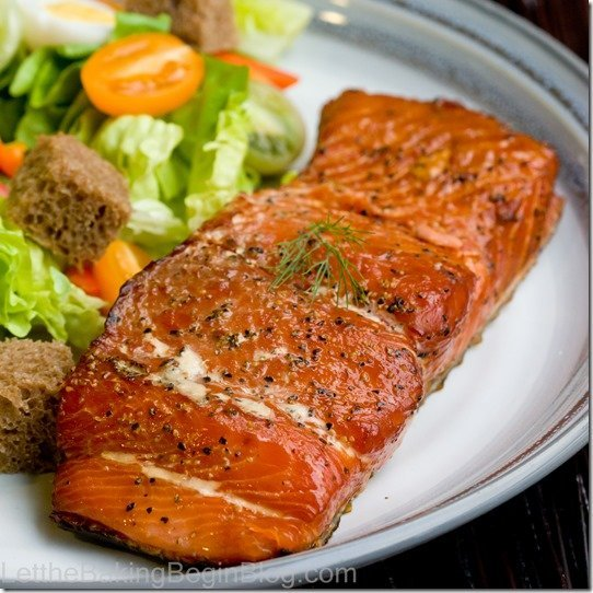 Smoked Salmon - Learn how to smoke salmon from the comfort of your own home. It is best to buy salmon that has lots of fat throughout the fillet, since that will produce a more moist fish. See the step by step photo instructions to see that you can totally do this!