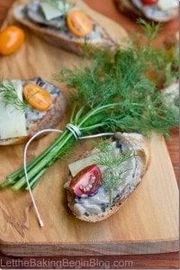 Portobella & Brie Crostini {Let the Baking Begin}