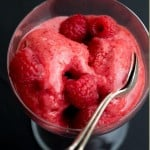Easy 3 Ingredient Strawberry Sorbet