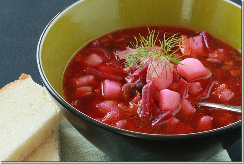 Red Beet Soup or Borsht is the most popular soup at our house. By LetTheBakingBeginBlog.com | @Letthebakingbgn