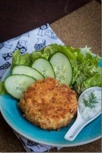 Salmon Cakes & Tsa-Tsiki Sauce