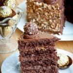 Ferrero Rocher Cake - Rich with Chocolate & Hazelnuts, this cake is amazing!