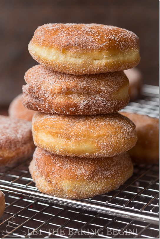 Simple Sugar Coated Doughnuts {Let the Baking Begin!}