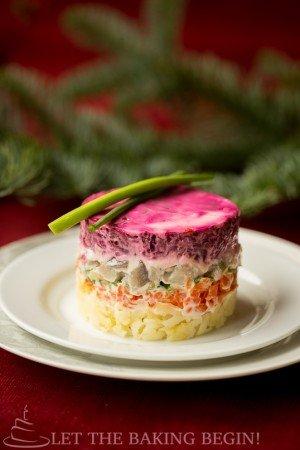 Shuba or Layered Fish Salad
