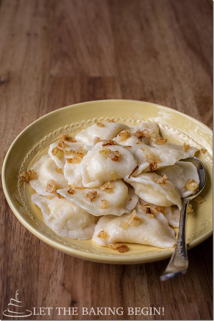 Pierogies With Potato Amp Caramelized Onion Let The Baking
