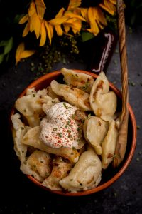 Potato Pierogi {Vareniki} are dumplings filled with potatoes and caramelized onions. Comfort food at it's best!