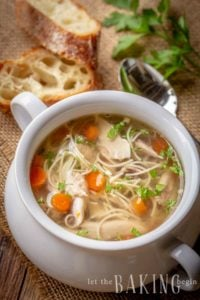 Chicken Noodle Soup made in the slow cooker or the crockpot will give you the most flavor and nutrients. This is one of the easiest and most delicious soups to make.
