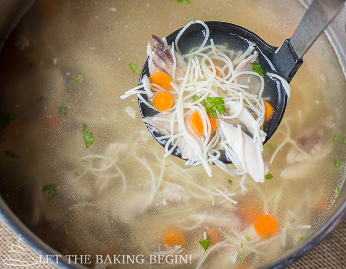Slow Cooker Chicken Noodle Soup - cooking the chicken drumsticks low and slow brings out a ton of flavor and makes for the most perfect cup of soup you can imagine. Set it and forget it kind of instructions are what this recipe is about!