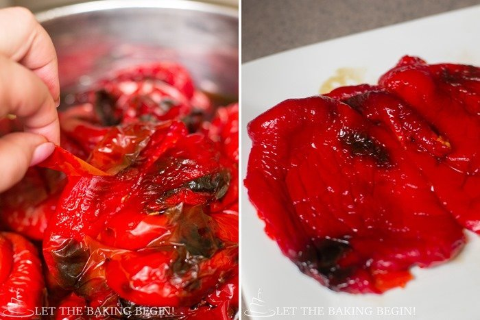 How to peel the pepper and remove seeds and stem.