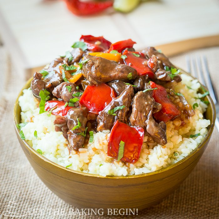 Spicy Slow Cooker Beef & Bell Pepper - Let the Baking Begin! Let the ...