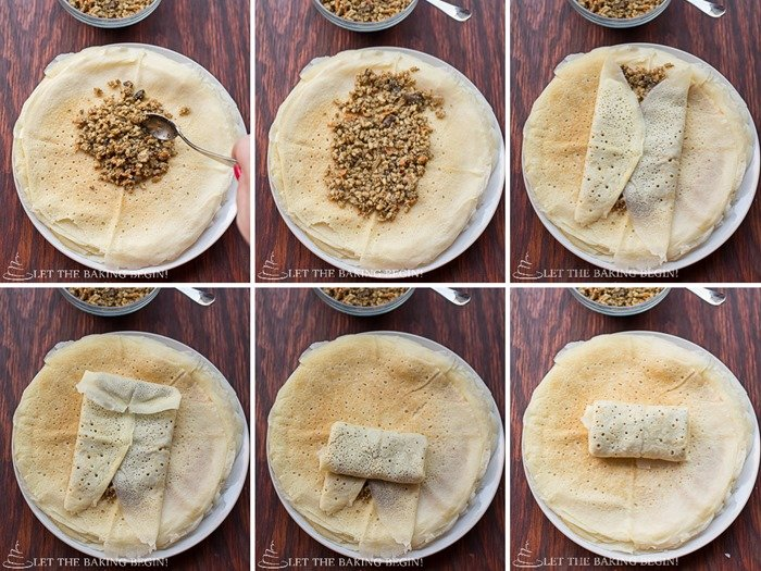 Savory Crepes (Блинчики с Мясом) - Delicious crepes filled with beef & mushroom filling. They're great as a make ahead or freezer meal. Make them for breakfast, lunch, or dinner - they will be a hit any time of day! Oh, and they reheat well!