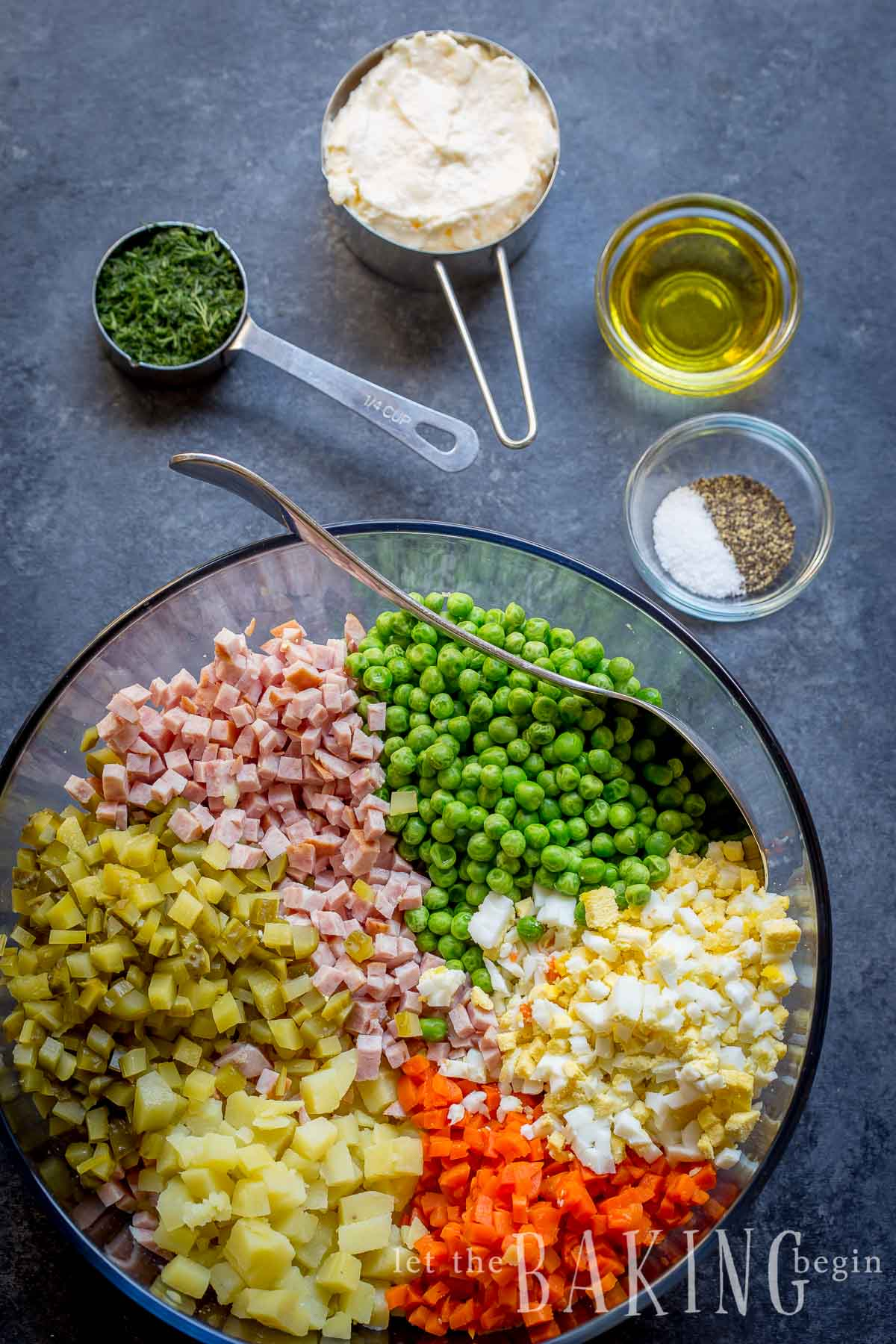Olivier Russian Potato Salad - You should try this fancied up potato salad and see why our family has been making it for years!
