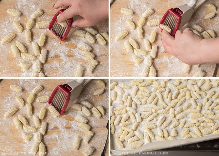 how to make gnocchi with ridges by using a strawberry slicer