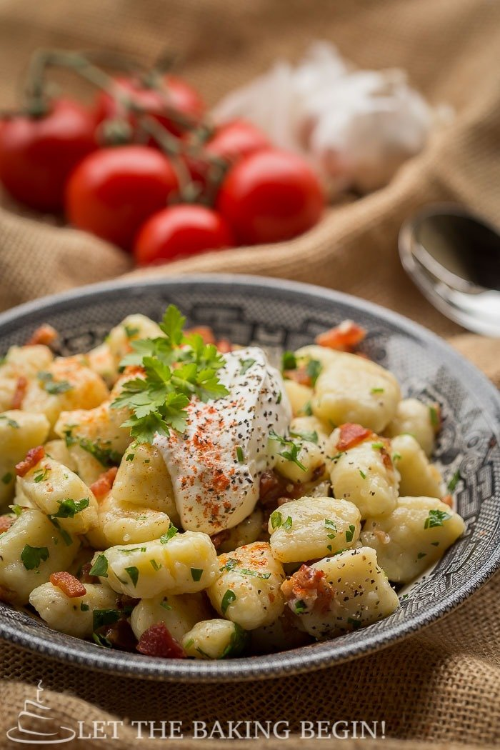 Potato Gnocchi with Bacon & Caramelized Onion | How to Make Gnocchi