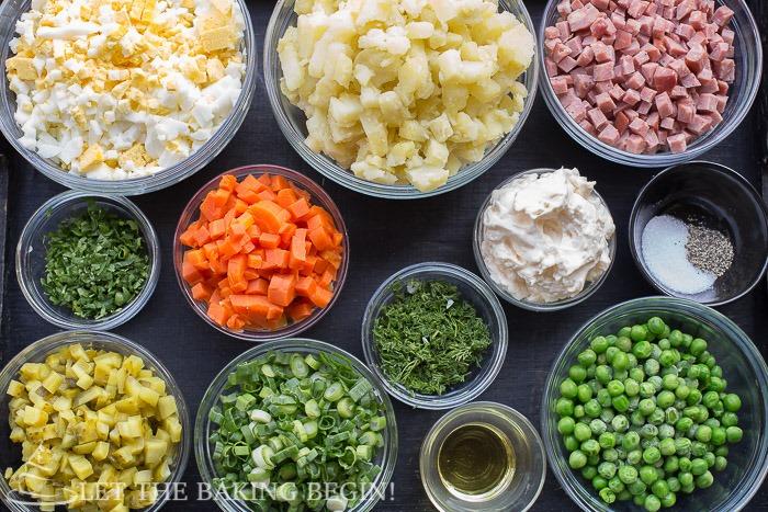 Russian Potato Salad or Olivier Salad (Салат Оливье или ...