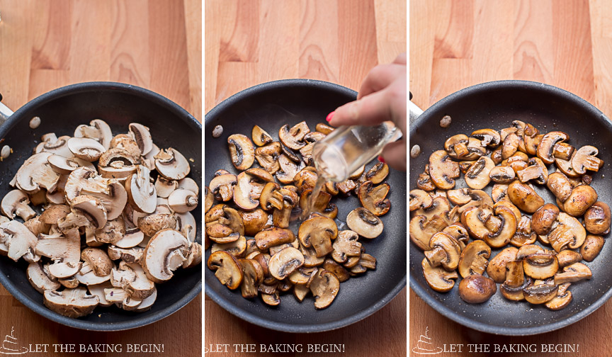 Mushroom & Pine Nut Crostini - Serve them as an appetizer, lunch or dinner, this combination is incredible! | @Letthebakingbgn | LetTheBakingBeginBlog.com