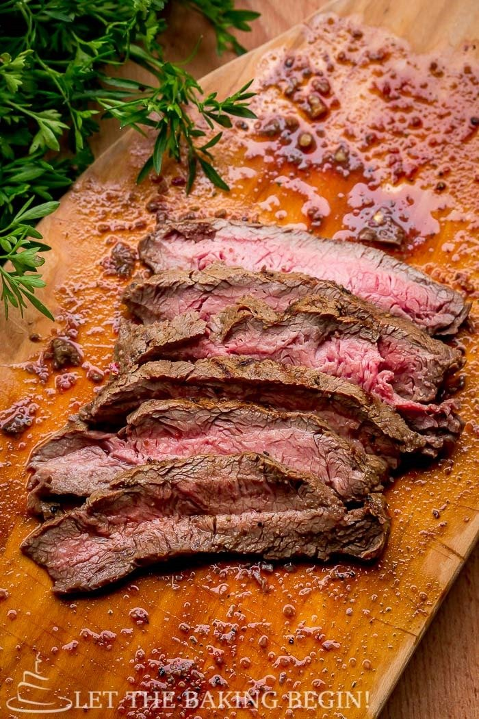 Grill Pan Flat Iron Steak - Delicious, juicy steak with grill- No problem! As long as you have a skillet or a grill pan you're good!   LetTheBakingBeginBlog.com   @Letthebakingbgn