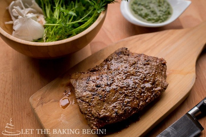 sauce grilled flat iron steak with chimichurri sauce 11 grill pan flat ...