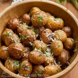 Pan Seared Parmesan Little Potatoes - LetTheBakingBeginBlog.com - @Letthebakingbgn