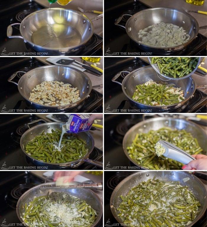 Creamy Garlic Parmesan Green Beans with a creamy garlic Parmesan sauce. A great side dish recipe to enjoy.