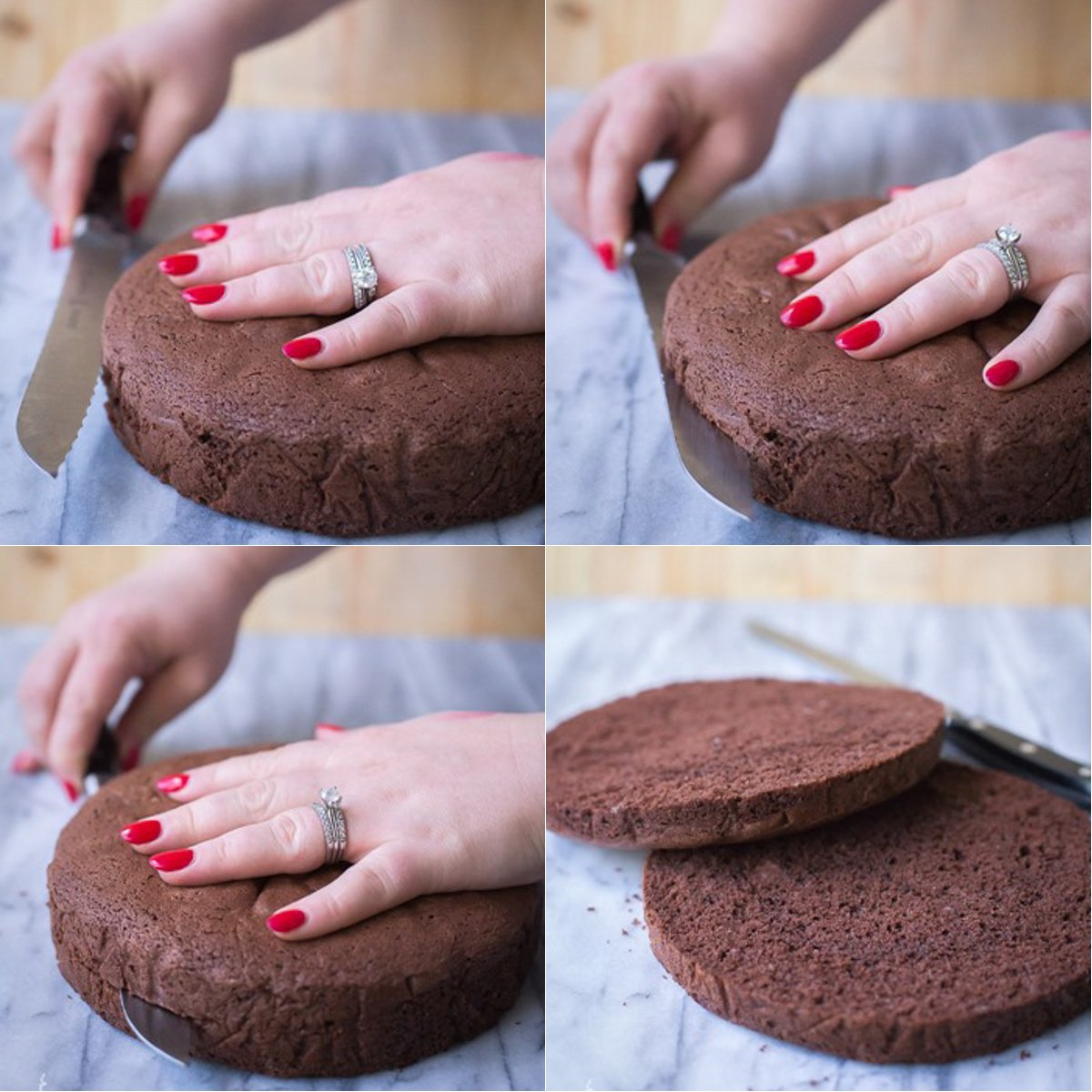 How to Split a Chocolate Sponge Cake