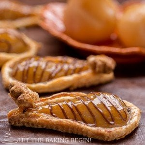 Poached Pears and Nutella Pastries by LetTheBakingBeginBlog.com-@Letthebakingbgn
