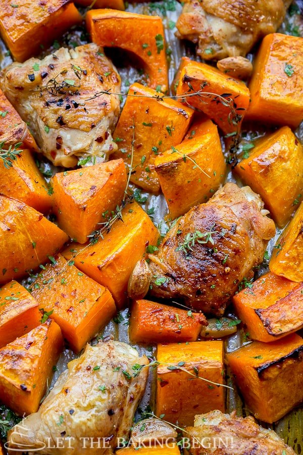 One Pan Chicken and Squash Dinner - Let the Baking Begin!