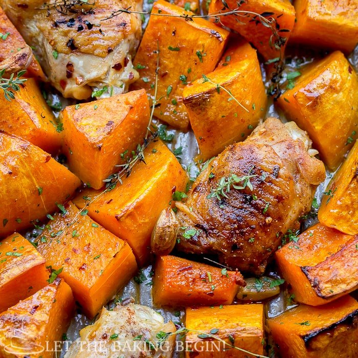 pan cooked chicken thighs with butternut squash pan cooked chicken ...