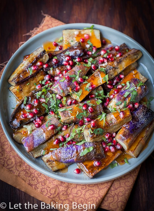 Grilled Eggplant in Sweet Chili Garlic Sauce - this simple Chinese eggplant recipe can be made with either stir-fried, grilled or roasted eggplants. Just cook the eggplant, then combine with garlic, sweet spicy chili sauce and herbs and you've got the best eggplant recipe out there.