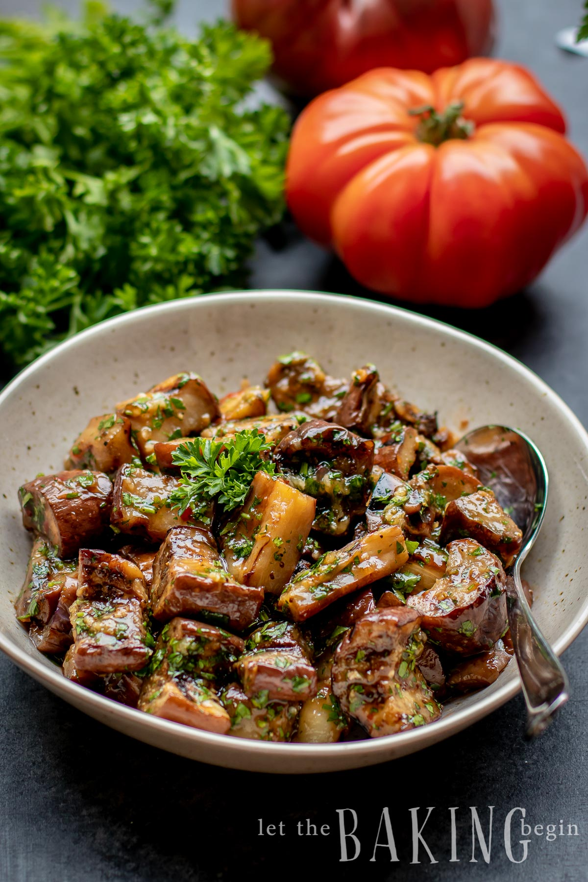 Grilled Eggplant in Sweet Chili Garlic Sauce - this simple eggplant recipe can be made with either stir-fried, grilled or roasted eggplants. Just cook the eggplant, then combine with garlic, sweet spicy chili sauce and herbs and you've got the best eggplant recipe out there.