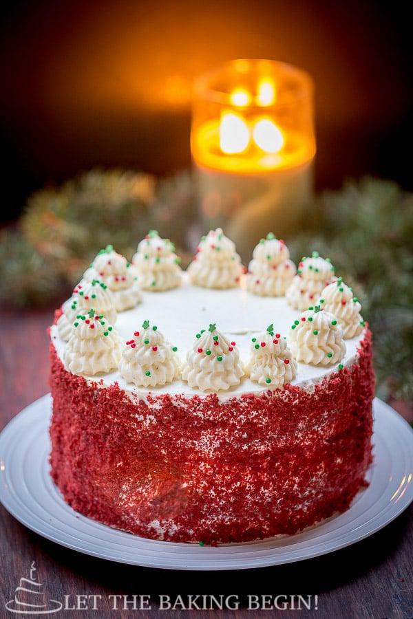 Red Velvet Cheesecake Cake Let The Baking Begin