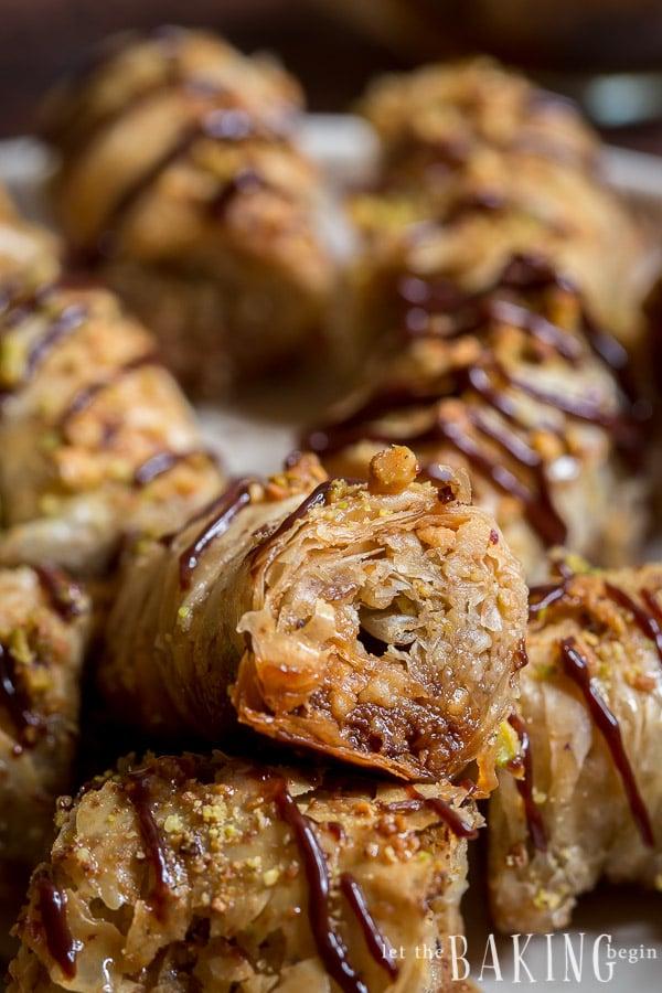 Pistachio-Walnut Baklava Rolls - Let the Baking Begin!