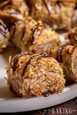Walnut-Pistachio Baklava Rolls | By Let the Baking Begin!
