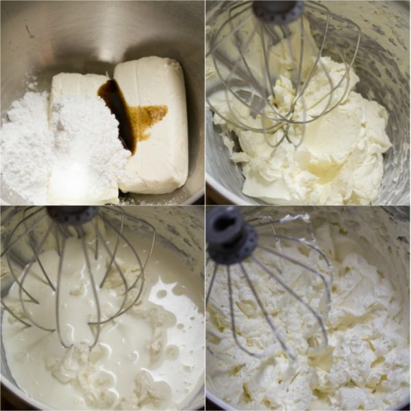 Step by step pictures on how to make the perfect vanilla cream cheese frosting.