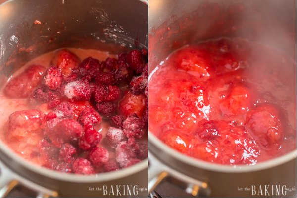 These Crepes with Strawberry and Raspberry Sauce are super easy to make and beautiful to serve. The sauce is bright, fresh and delicious. You'll want to serve it over everything (think ice cream, pancakes, waffles, etc.). Check out my hack for easy mixing of crepe batter ;) You're welcome!