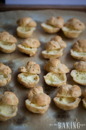 Cream Puffs - Pate choux padtries filled with sweetened whipped cream | Let the Baking Begin