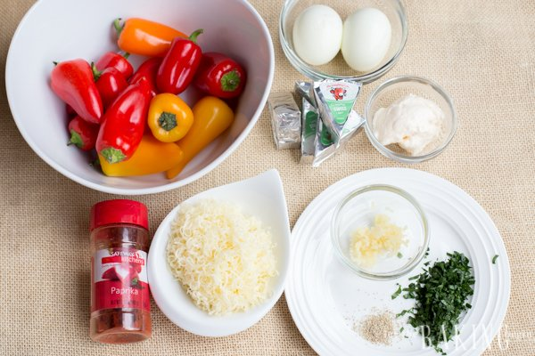 Mini Peppers stuffed with Egg and Cheese | Let the Baking Begin!