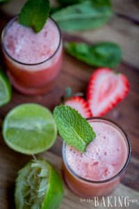 Strawberry-Mint Limeade | Let the Baking Begin